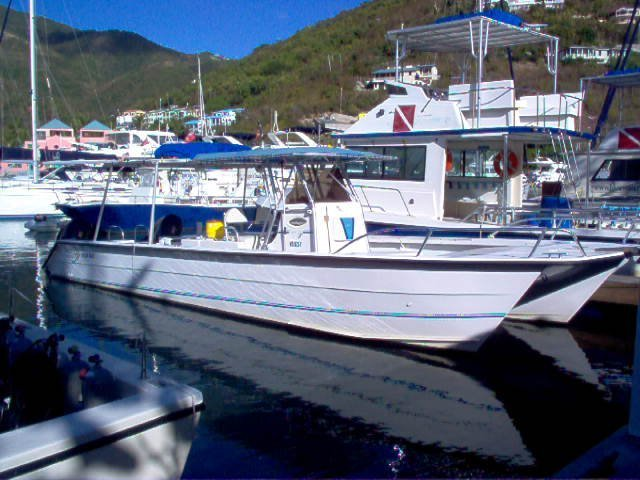 Tortola Blue Water Divers boat