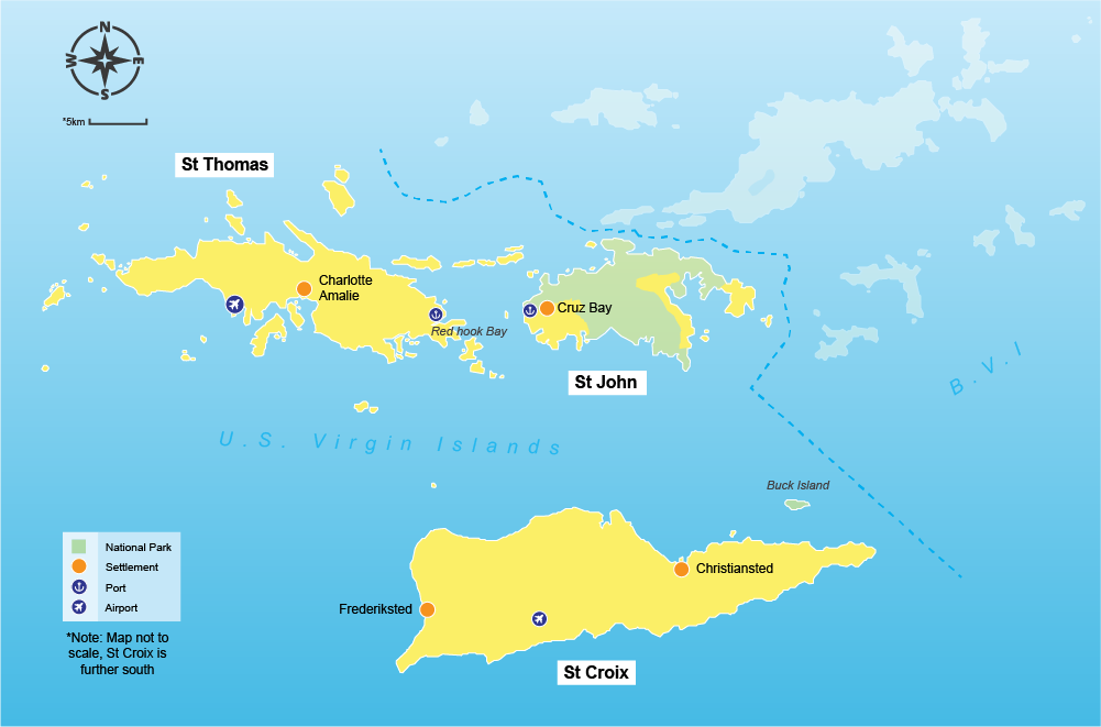 Us Virgin Islands Travel Guide Virginbookingscom Virginbookingscom - Map-of-us-and-us-virgin-islands
